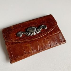 Brighton Leather Small ID Holder Wallet Key Chain